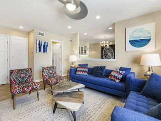 Luxe 3BR Condo w/ Private Patio, Fire Pit, BBQ & Pool – Walk to Disneyland