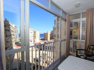 Apartment in Calpe mit Meeresblick, nah am Strand