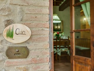 L'Aia, two bedrooms apartment in the Chianti area with swimming pool