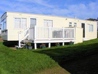 6 Berth Holiday Van on fantastic Whitecliff Bay Holiday Park, panoramic views