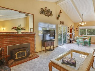 Charming dog-friendly home w/ unique interior, ocean views & great wood stove!