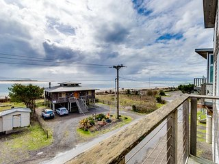 Luxurious dog-friendly home with ocean views and beach access!