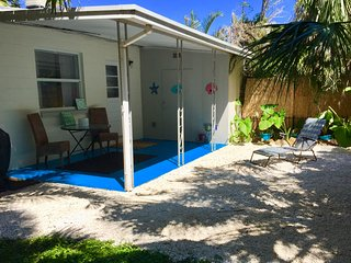2 BDRM House w/ Sleeper Sofa,Private Backyard, Across the Street from the Beach!
