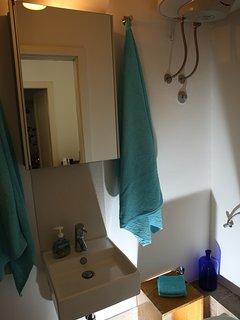 bathroom second floor: shower, and toilet