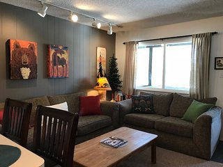 New! Prime location condo steps from free shuttle to ski resort and town