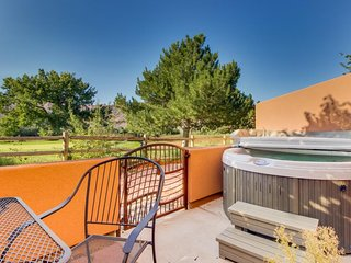 Dog-friendly condo w/ views, shared seasonal pool access, & private hot tub!
