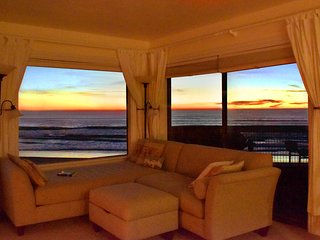 Living Room - Enjoy serene ocean sunsets from the living room.