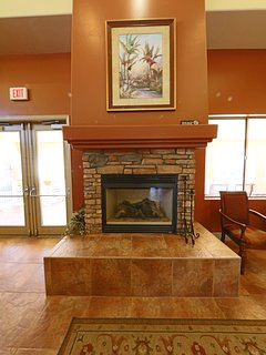 Fireplace in club house
