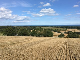 Stunning views out to sea from the surrounding fields