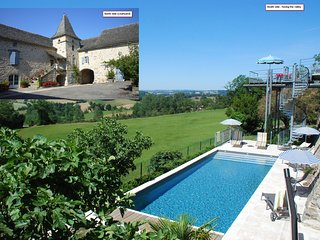 Le Portail 5* gite Heated pool 4bdrms 3bthrms sleeps 8 A step away from Najac