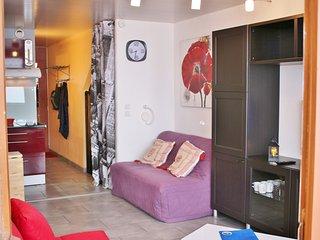 appartement ** pied de piste + parking privatif, balcon plein sud, + cellier.