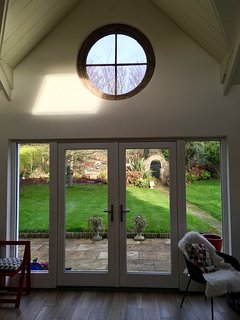 Views out to the garden through the French doors