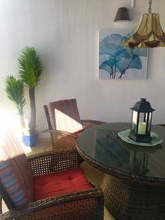 Relax in our sitting area in outdoor courtyard