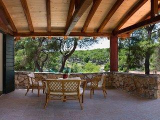 Beachfront villa with pool, Brac island