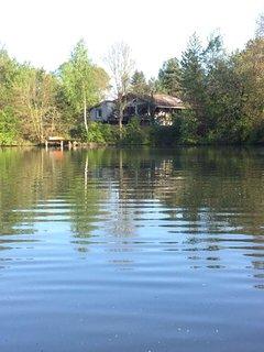 Chalet avec étang privatif