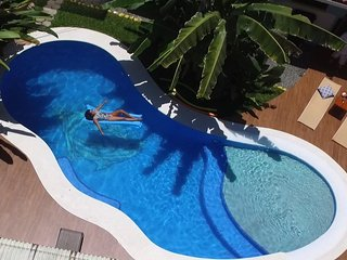 3 bedroom house, Pools/Jungle/200 meters to beach!