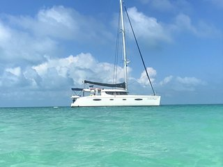 Take it out on a day sail with a captain for an additional cost.