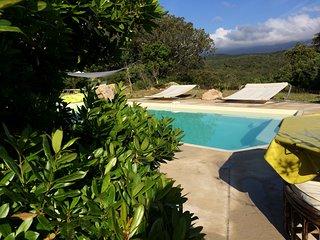 Villa de standing avec piscine jardin arbore wifi climatisee