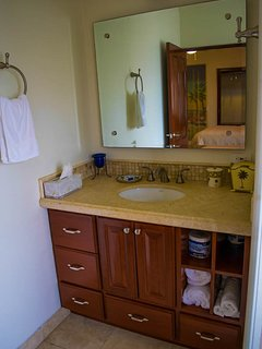 Mountain view queen suite. Private bath.