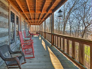 NEW! 5BR Wolf Laurel Resort Log Cabin w/ 4 Decks!