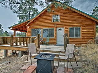 NEW! Rustic Alpine Cabin on 3 Acres w/ Mtn Views