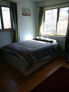 Upstairs, bedroom with double bed