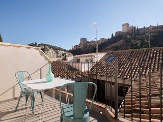 Mágico en el Albaicín con vistas a la Alhambra