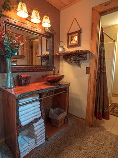 Cabin Room vanity area.
