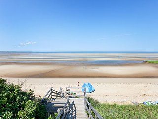Water-View 3BR Gem w/ Private Suites & Upper Deck Steps to Cape Cod Bay