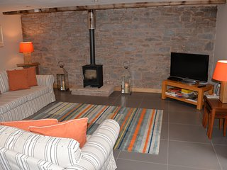 The living room has southerly views towards Pen y Fan.  Wifi access is available throughout.