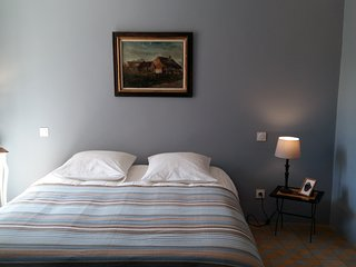 Chambre bleu en duplex