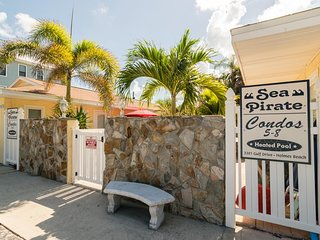 Minutes away from the Gulf This 2BR/1BA Brings a Pool, Patio, and Sleeps 4!