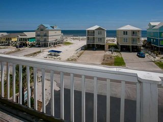 View of beach and Gulf across street