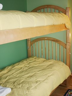 Bedroom featuring bunk beds