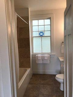 Bathroom serving two bedrooms