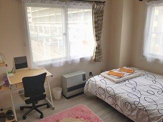 Central Sapporo double room/WiFi/subway st. 1min