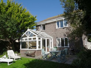 18 POLVELLA CLOSE, comfy, relaxing family house 450 yards from Fistral Beach. In