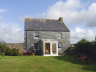 HIGHER LANHERNE FARM, detached, early 19th cent. farm cottage, close to beaches.