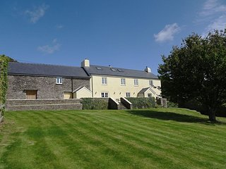 LOWER WIDDICOMBE FARM, stunning 19th century farmhouse with games room, surround