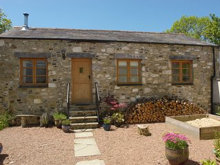 MILL HOUSE BARN, sweet detached cottage for two with wood burning stove and rive
