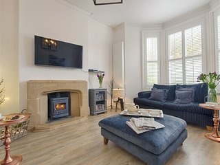 STANHOPE HOUSE, smart, semi-detached Victorian villa with wood burning stove