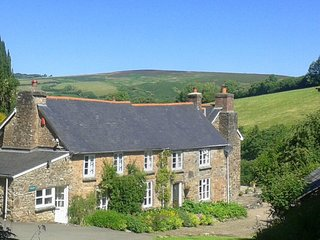 LOWER COWLEY FARMHOUSE, fabulous detached Exmoor house with indoor swimming