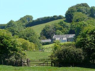 WEST HUCKHAM BARN, detached, Exmoor cottage with superb moorland views. Wheddon