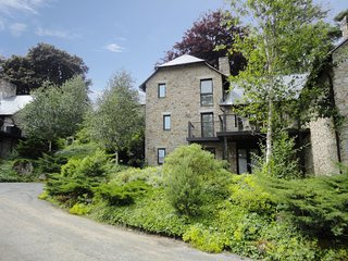 FOX TOR, smart lodge at luxury Bovey Castle. Use of hotel spa, pool, tennis and