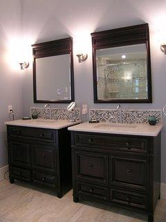 SANDBANKS BATHROOM double vanities; heated floor; hair dryer; make-up mirror