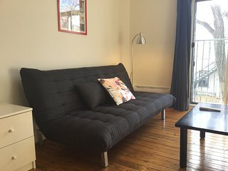 Urban Vintage Clean and Comfy for 2. Super Location 2 min to subway Rosemont