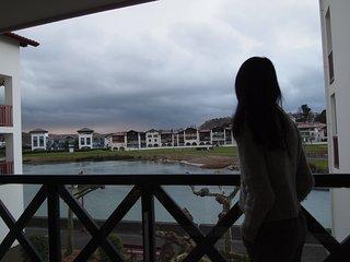 Bonito apartamento al lado playa con vistas al lago.