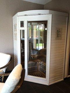 sauna 2-3 personnes dans salon de détente