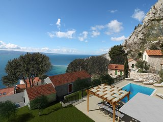 Brand new! VILLA B2B with heated private pool and amazing panoramic sea views!