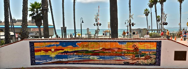 A mosaic of the beach... at the beach! San Clemente has some great local art.